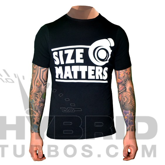 """Size Matters"" Awesome Turbocharger T-Shirt"