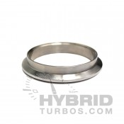 Vibrant Discharge flange for BorgWarner EFR T25/T3/T4 based turbine housings, v-band style.