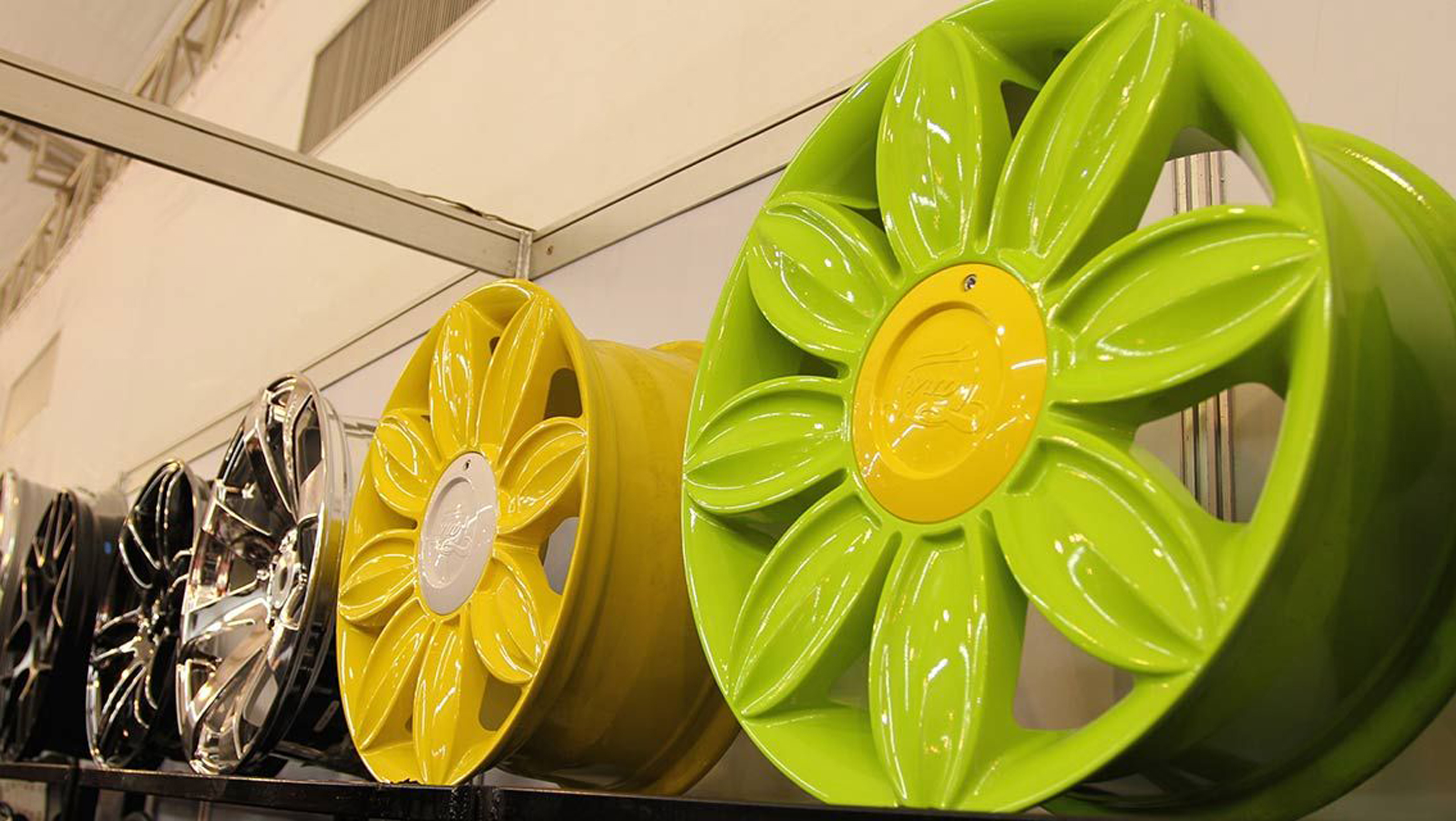 Super-sized and super bright alloy wheels on display at the bangkok auto show hybrid turbos